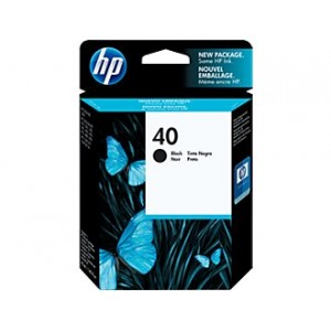 Cartouche d'encre Noire HP 40 42 Ml
